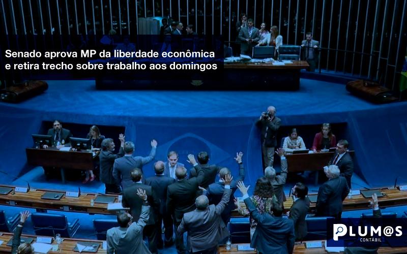 Senado-aprova-MP-da-liberdade-econômica-e-retira-trecho-sobre-trabalho-aos-domingos - Senado aprova MP da liberdade econômica e retira trecho sobre trabalho aos domingos