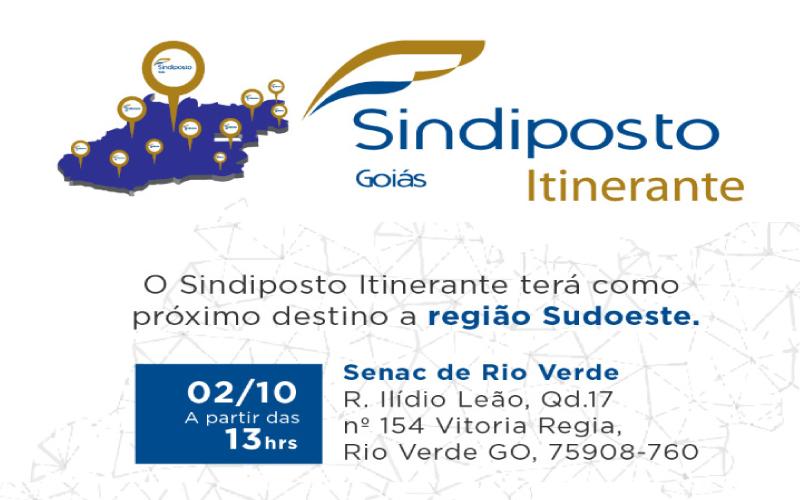 O Sindiposto Itinerante terá como próximo destino a região Sudoeste - O Sindiposto Itinerante terá como próximo destino a região Sudoeste.