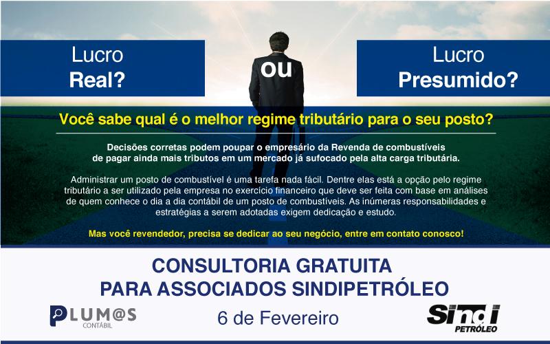 mini - Atenção Revendedores de Combustíveis: Plantão gratuito da Plumas Contábil para associados Sindipetróleo – Quinta-feira 06/02.