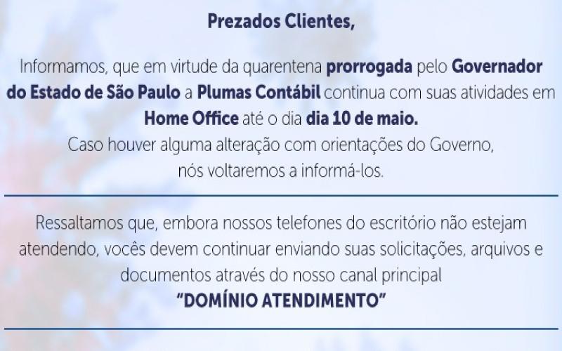 prezados - COVID-19 GOVERNO SP DECRETA NOVA PRORROGAÇÃO  DA QUARENTENA EM TODO O ESTADO DE SÃO PAULO