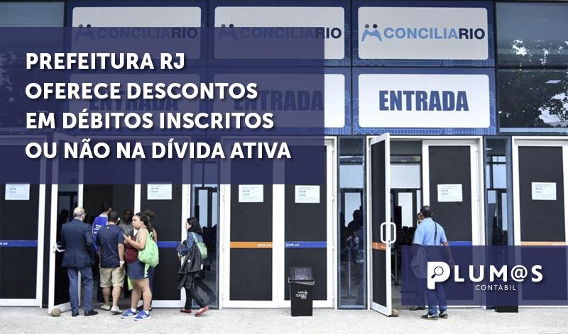 banner - Prefeitura RJ oferece descontos - Prefeitura RJ oferece descontos em débitos inscritos ou não na dívida ativa