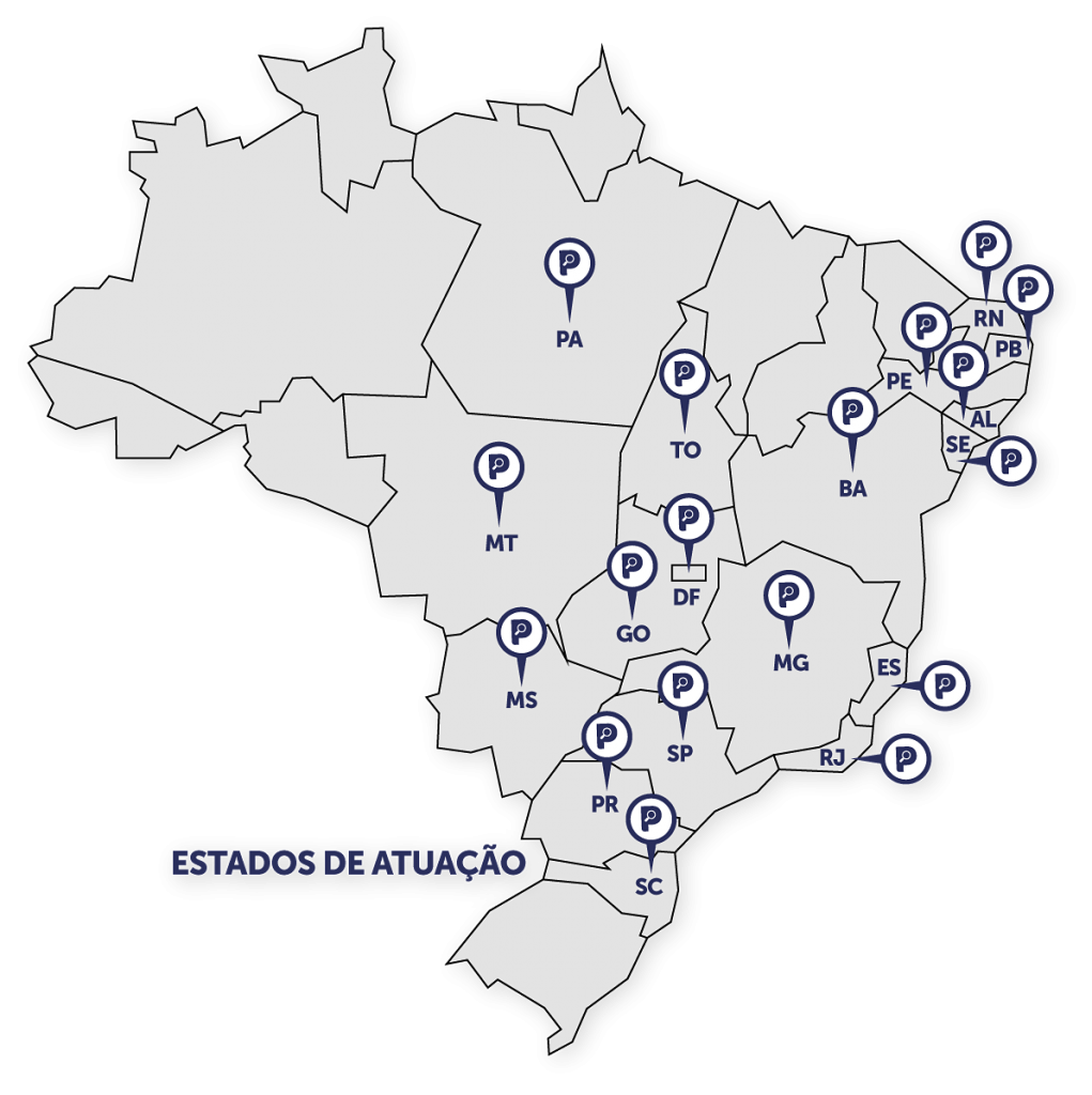 mapa sombra - Serviços