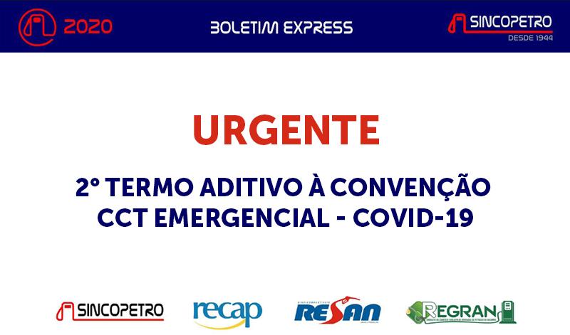 banner URGENTE 2 TERMO ADITIVO - URGENTE: 2° TERMO ADITIVO À CONVENÇÃO CCT EMERGENCIAL – COVID-19