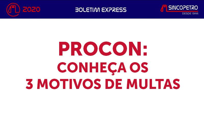 banner 4 PROCON - PROCON: CONHEÇA OS 3 MOTIVOS DE MULTAS (Sincopetro)