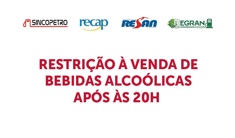 banner5 RESTRIÇÃO - RESTRIÇÃO À VENDA DE BEBIDAS ALCOÓLICAS APÓS ÀS 20H (Sincopetro)