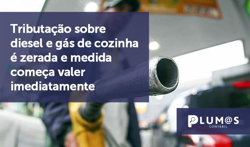banner 01 Tributação sobre diesel - Tributação sobre diesel e gás de cozinha é zerada e medida começa valer imediatamente