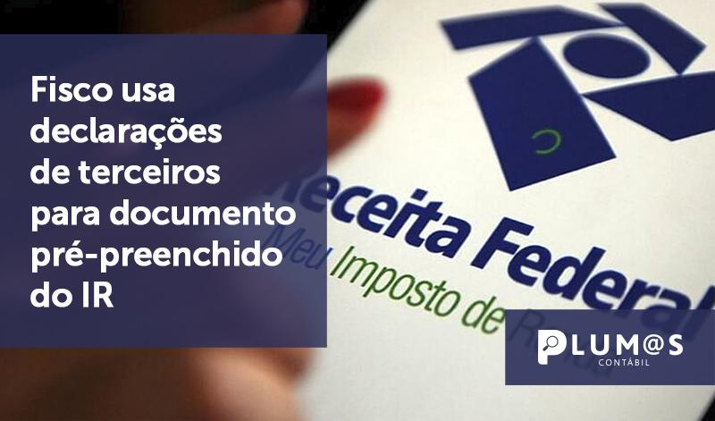 banner 05 Fisco - Fisco usa declarações de terceiros para documento pré-preenchido do IR